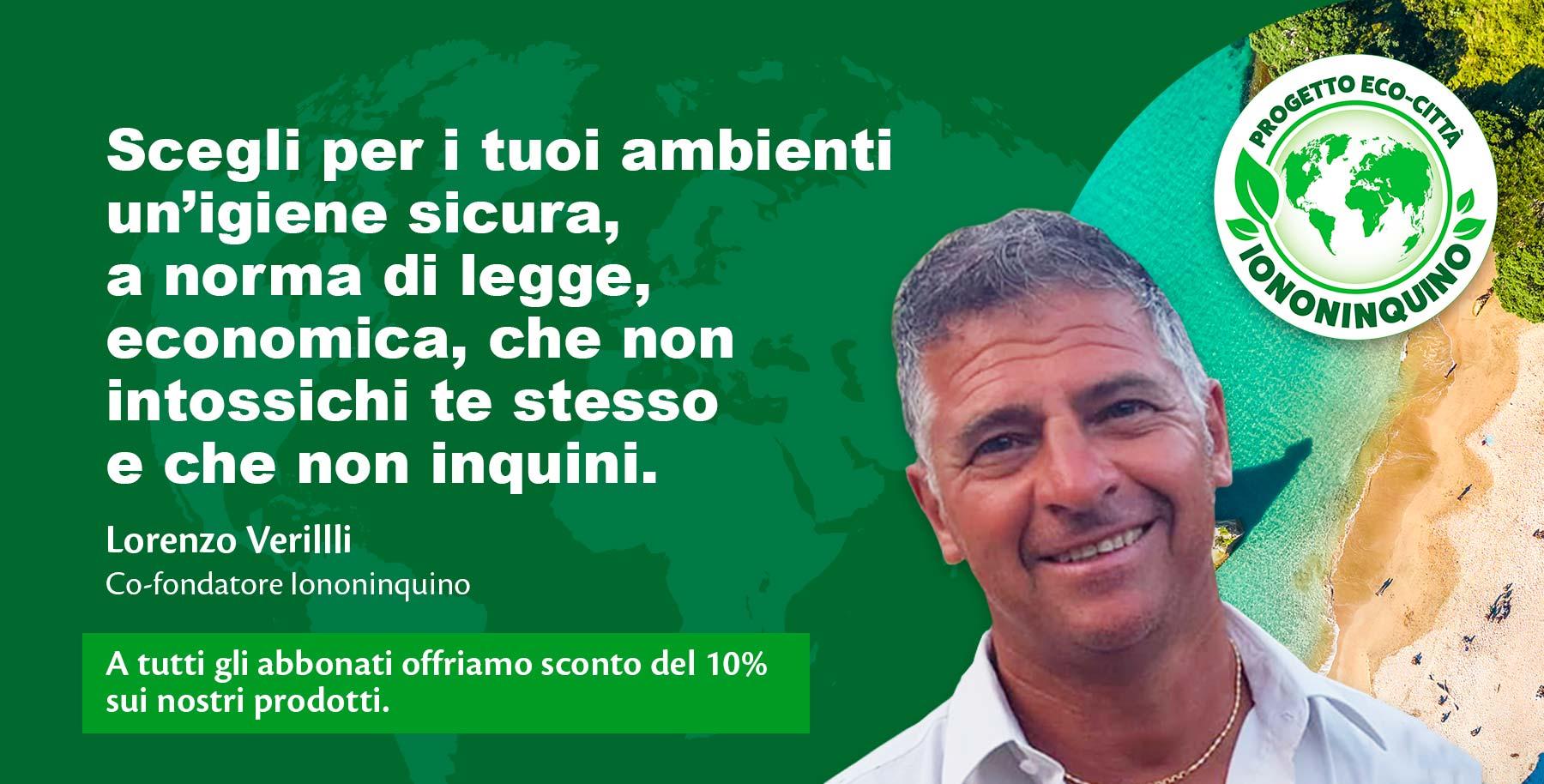 Lorenzo Verilli: Io non inquino - Sinergie Vitali