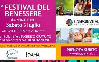 Programma FESTIVAL DEL BENESSERE 3 luglio